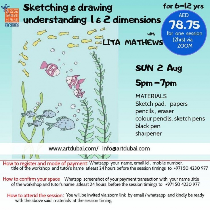 Sketching and Drawing for Kids Online Workshop