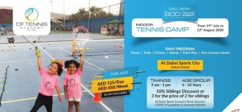 Indoor Tennis Camp at the Dubai Sports City Indoor Dome