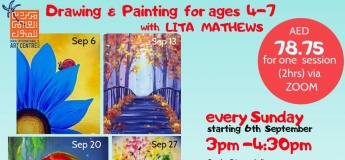 Kids Painting sessions every Sunday with Lita Mathews