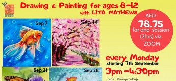 Kids Painting sessions (via zoom) every Monday with Lita Mathews