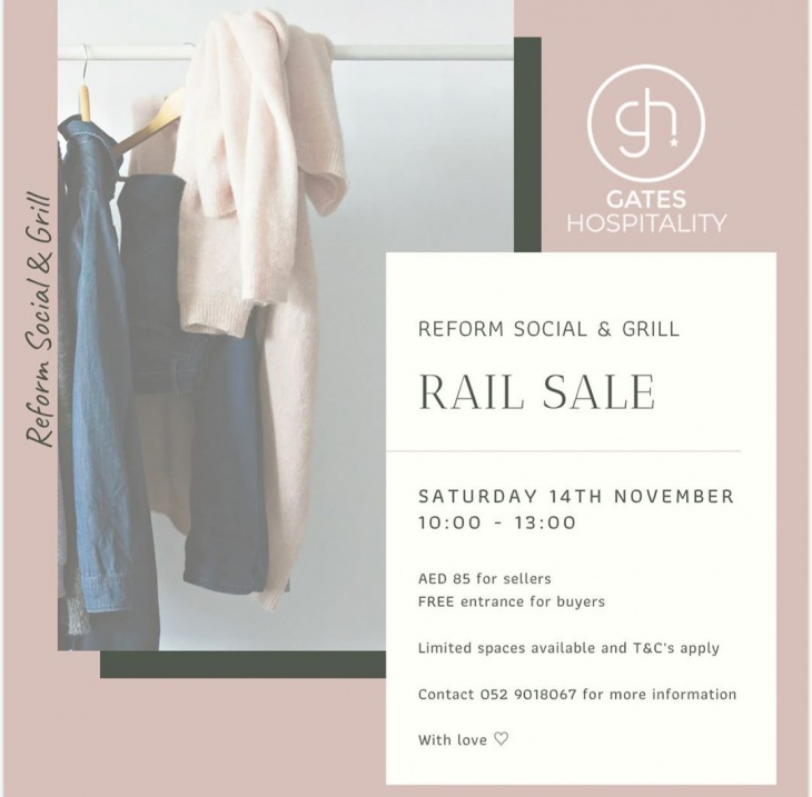 Rail Sale @ Reform Social & Grill Dubai