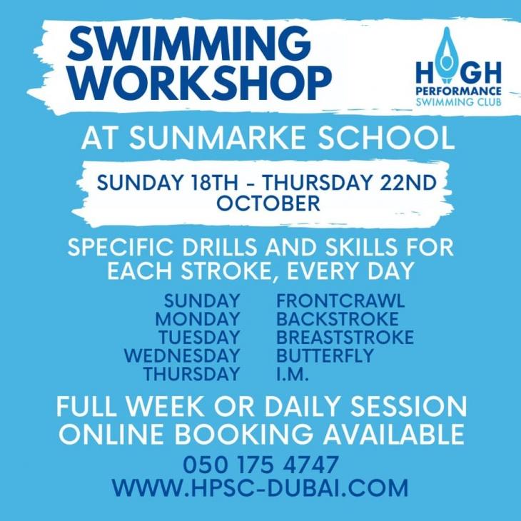 Swimming Workshop by High Performance Swimming Club @ Sunmarke School
