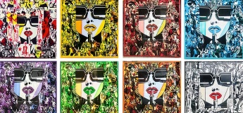 French Kiss - the solo painting exhibition by French artist Marc Ferrero