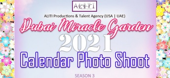 Dubai Miracle Garden Calendar Photo Shoot