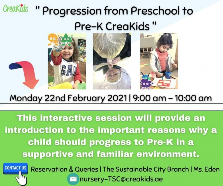 "Online Information Session ""Progression from Preschool to Pre-K CreaKids"""