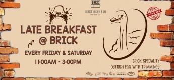 Late Breakfast @ Brick - Rooftop