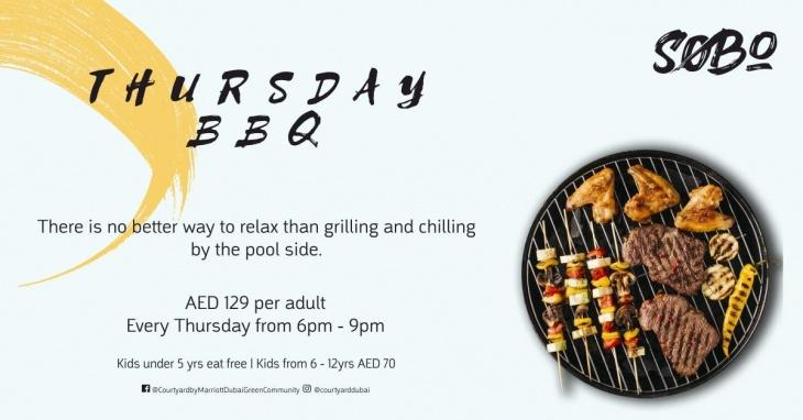 Thursday BBQ @ Courtyard by Marriott Dubai, Green Community