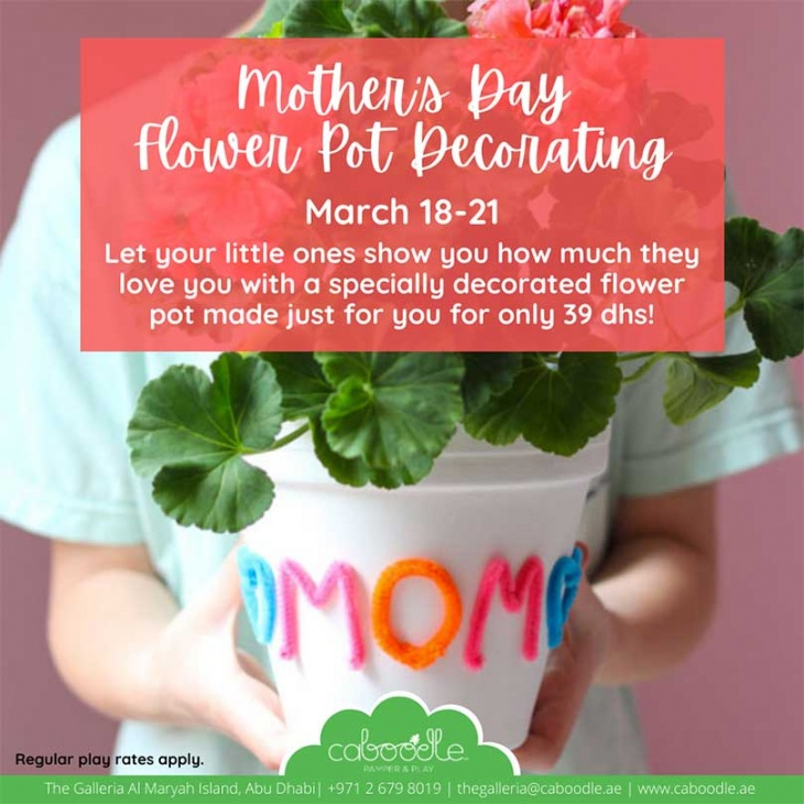 Mother's Day Flower Pot Decorating @ Caboodle