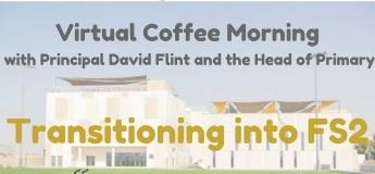 Virtual Coffee Morning principal David Flint and the Head of Primary