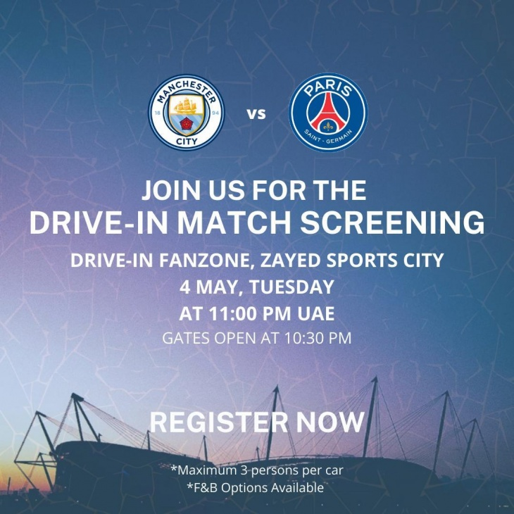 Drive-in Football Match Screening @ Zayed Sports City