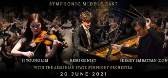 Ji Young Lim and Remi Geniet with the Armenian State Symphonic Orchestra