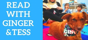 Reading with Ginger and Tess