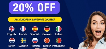 20% Off on All European Language Courses