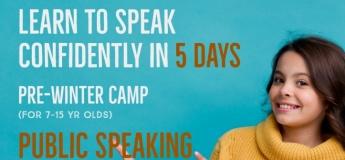 Pre Winter Camp - Public Speaking for Kids