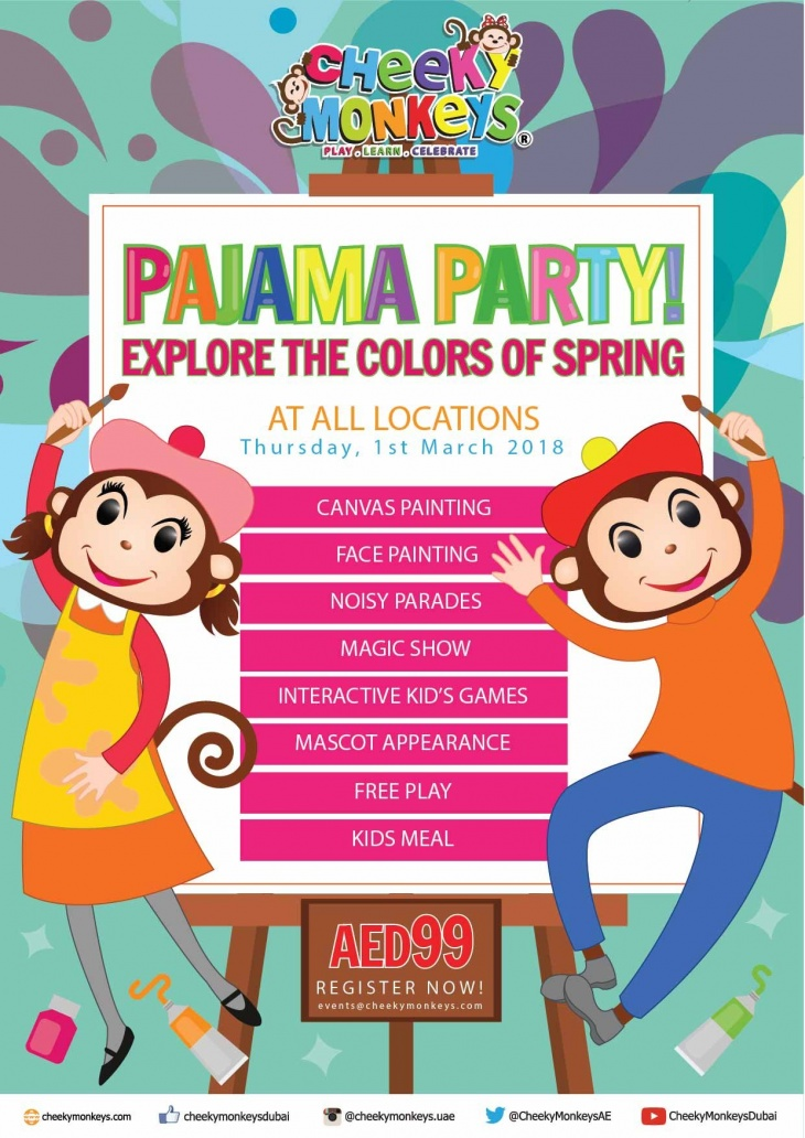 Colors of Spring Pajama Party @ Cheeky Monkeys J3 Mall