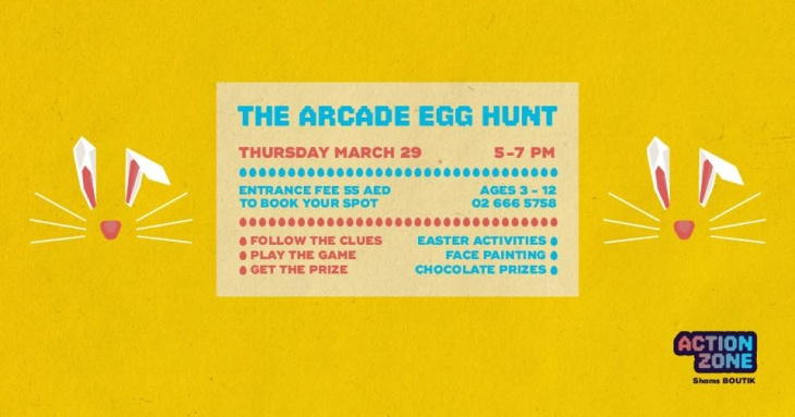 The Arcade Egg Hunt at Action Zone   Tickikids Abu Dhabi