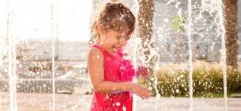 Splashing in the Musical Water Fountain
