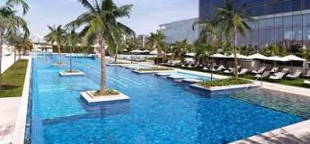 Pool & beach access at Fairmont  Bab Al Bahr