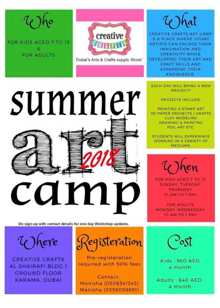 Summer Arts Ans Crafts Workshops Tickikids Dubai