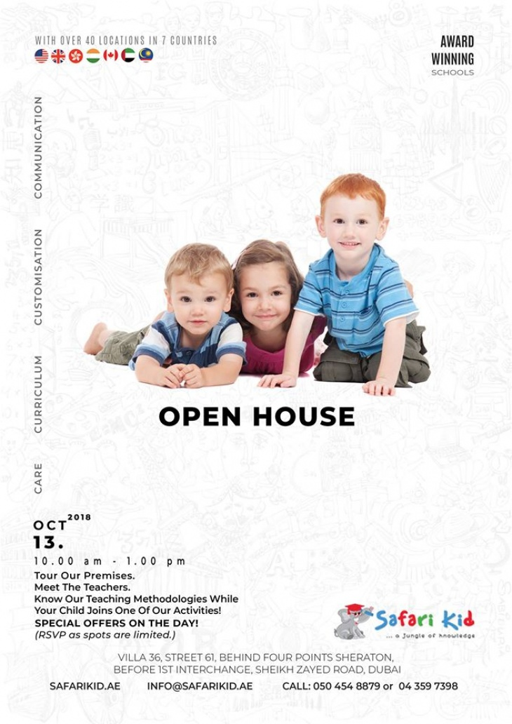Open House at Safari Kid Nursery