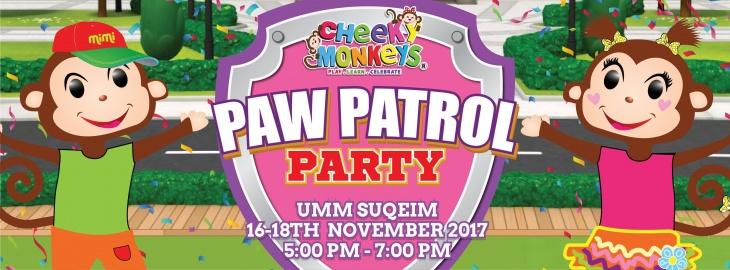 Paw Patrol Party at Cheeky Monkeys J3 Mall
