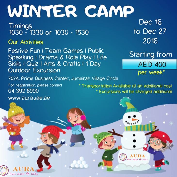 Winter Camp Dec 2018 - AURA JVC   Tickikids Dubai