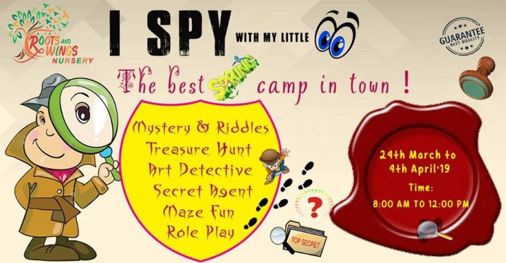 Join our I SPY with my little eye - the best spring camp in town