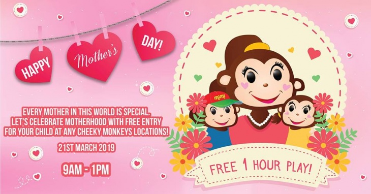 Mother's Day Special @ Cheeky Monkeys J3 Mall